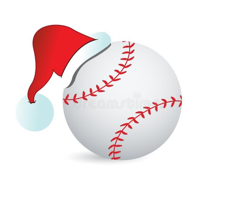 Béisbol Santa Cap stock de ilustración
