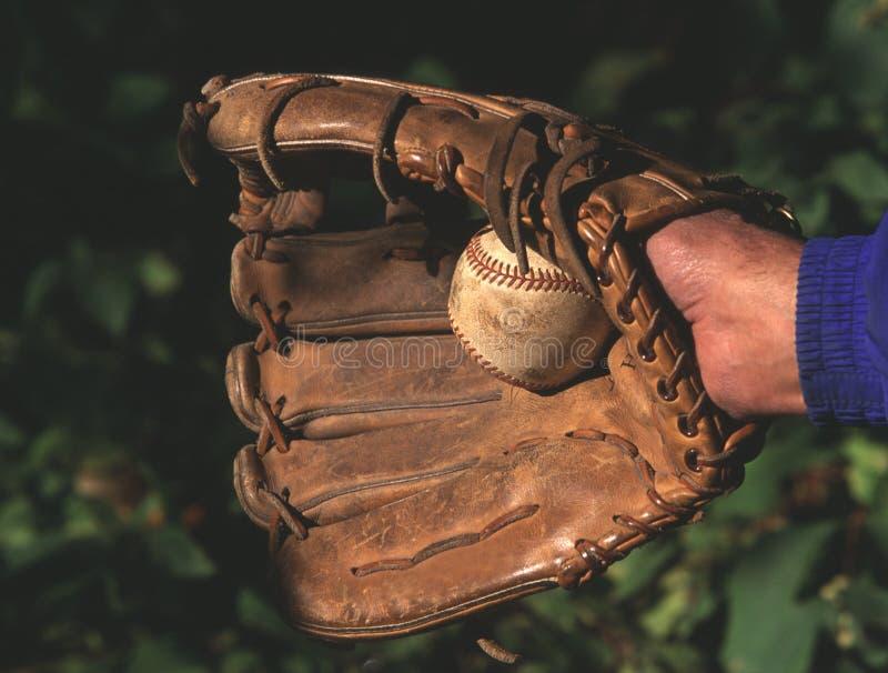 Béisbol y guante fotos de archivo