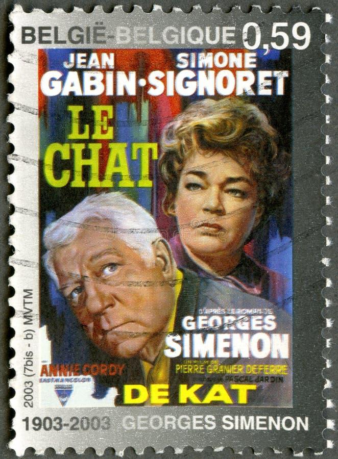 BÉLGICA - 2003: cartel de las demostraciones para imágenes de archivo libres de regalías