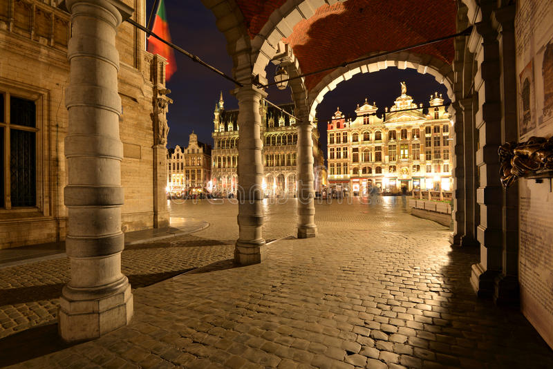 Bélgica, Bruxelas, Grotte Markt imagem de stock