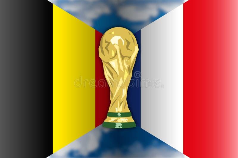 Bélgica CONTRA Francia, Rusia 2018, finales cuartos libre illustration
