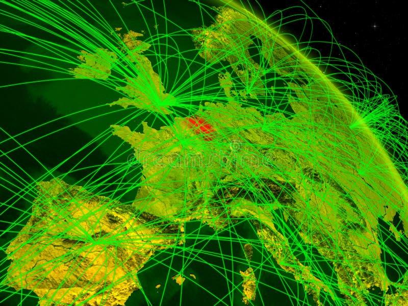 Bélgica en el globo digital stock de ilustración