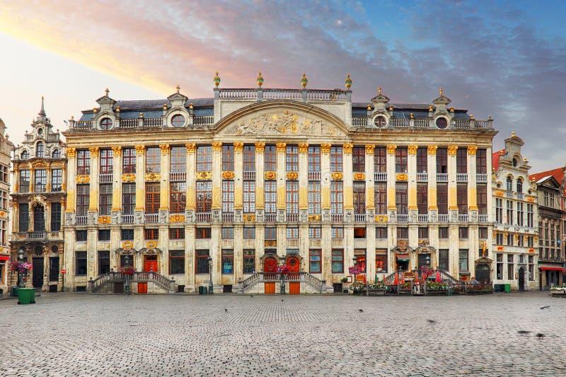 Bélgica - Grand Place em Bruxelas imagens de stock