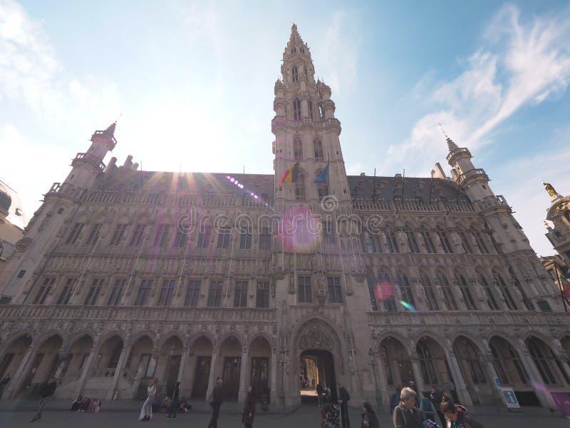 Bélgica, la plaza de Bélgica donde mucha gente fotos de archivo