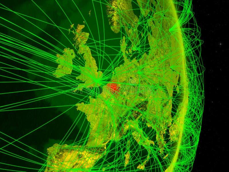 Bélgica na terra digital ilustração stock