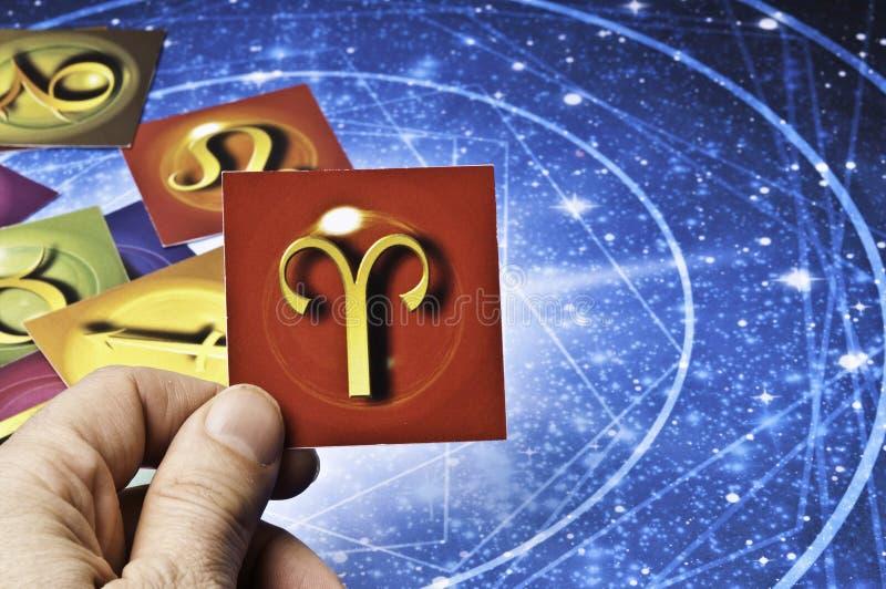 Bélier d'astrologie photographie stock libre de droits