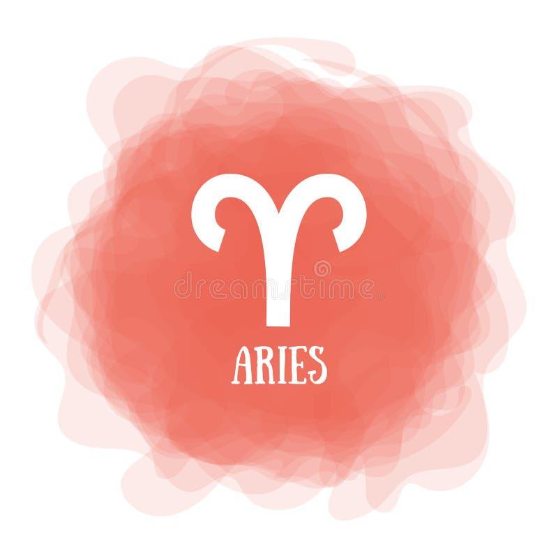 bélier zodiaque des symboles douze de signe de conception de dessin-modèles divers Calendrier astrologique r Cercle fumeux Ligne  illustration de vecteur