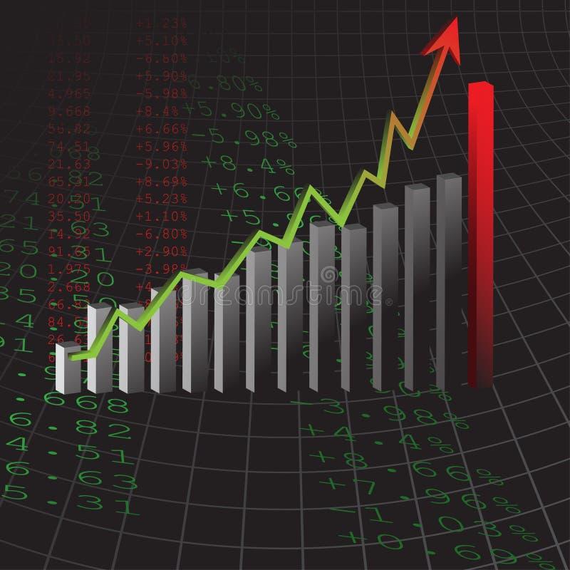 bénéfice de graphique de gestion illustration stock
