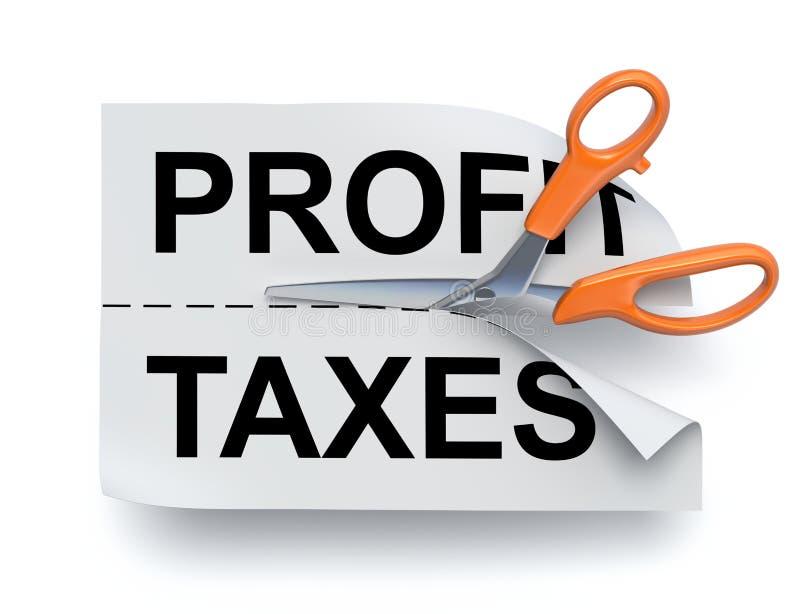 Bénéfice et impôts illustration libre de droits