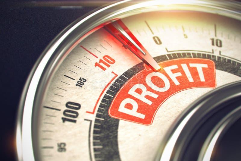 Bénéfice - texte sur l'échelle conceptuelle avec l'aiguille rouge 3d photographie stock libre de droits