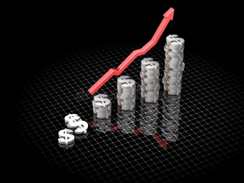 Bénéfices en hausse illustration de vecteur