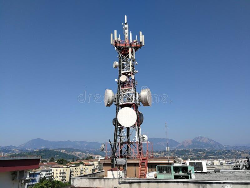 Bénévent - antenne sur le toit photos libres de droits