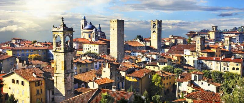 Bérgamo medieval, Italia fotos de archivo libres de regalías