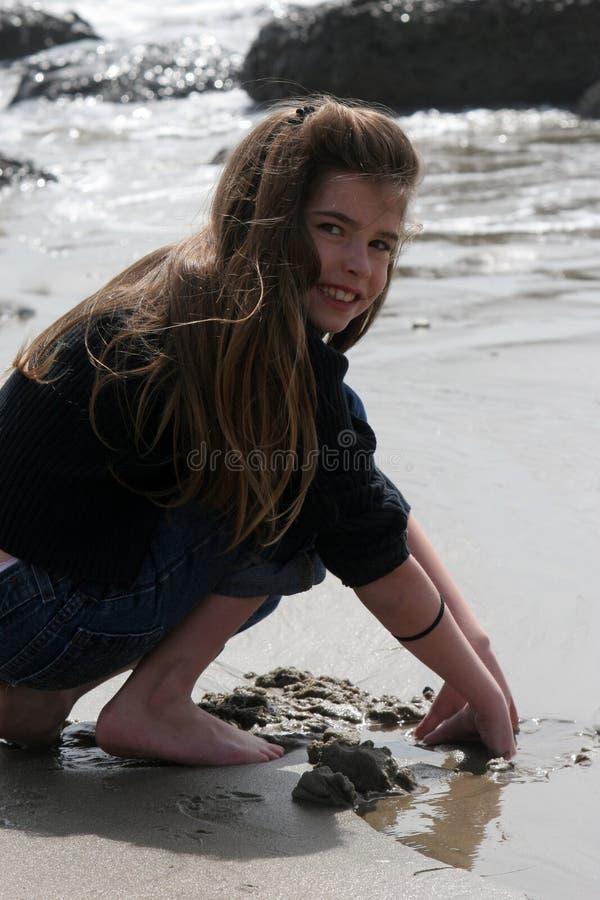 Bêcheur de sable images libres de droits