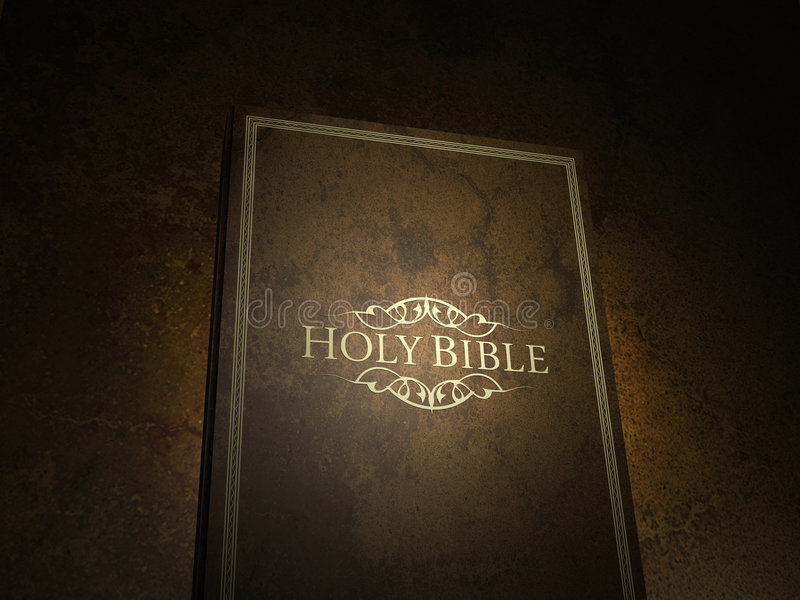 A Bíblia ilustração royalty free