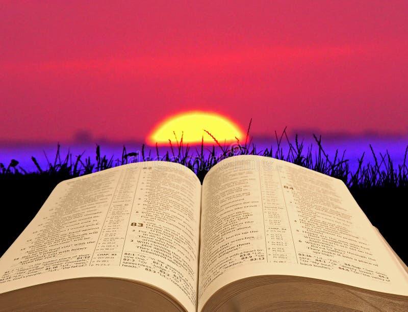 Download A Bíblia do por do sol imagem de stock. Imagem de cena - 80102857