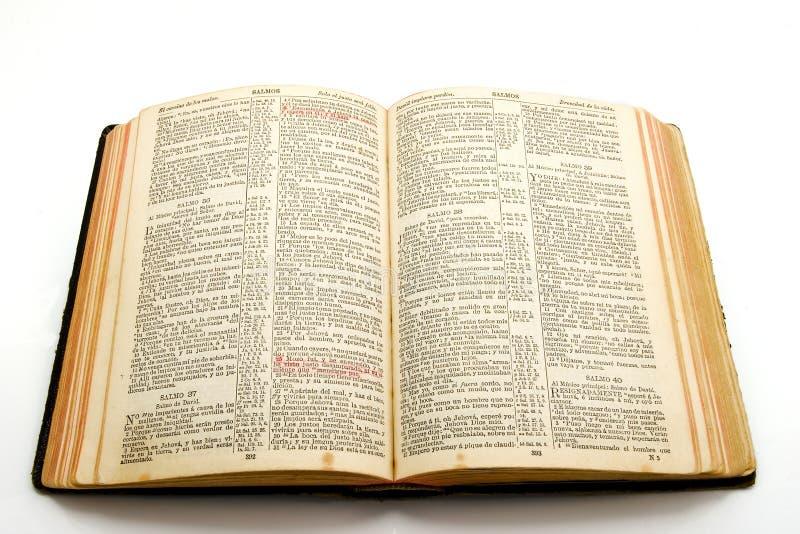A Bíblia velha fotografia de stock