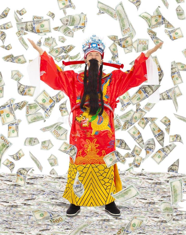 Bóg bogactwo części bogactwa i dobrobyt z pieniądze padamy obrazy royalty free