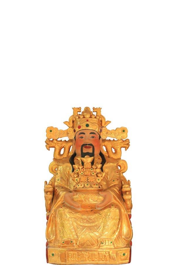 Bóg bogactwo w chińskiej świątyni obrazy stock
