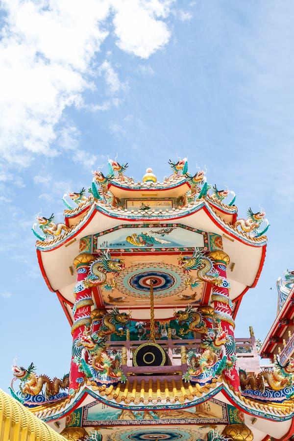 Bóg Naja chińczyka świątynia obraz stock
