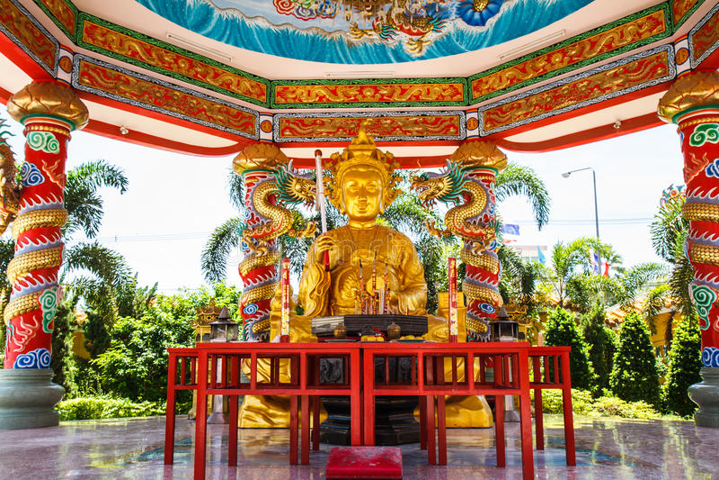 Bóg Naja chińczyka świątynia zdjęcia royalty free