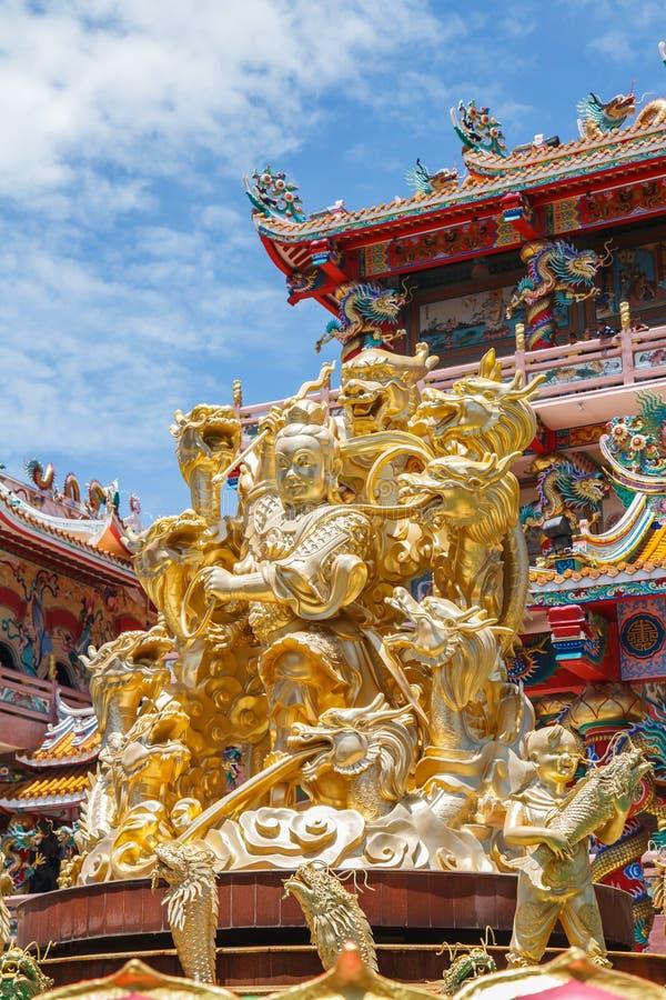 Bóg Naja w chińskiej świątyni fotografia stock