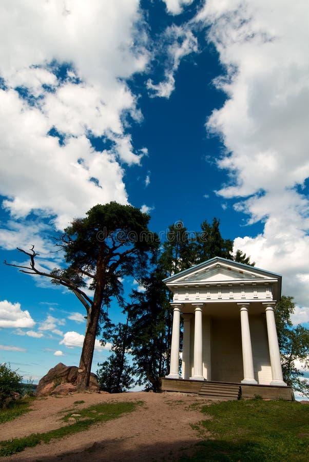 bóg Neptune świątynia fotografia royalty free