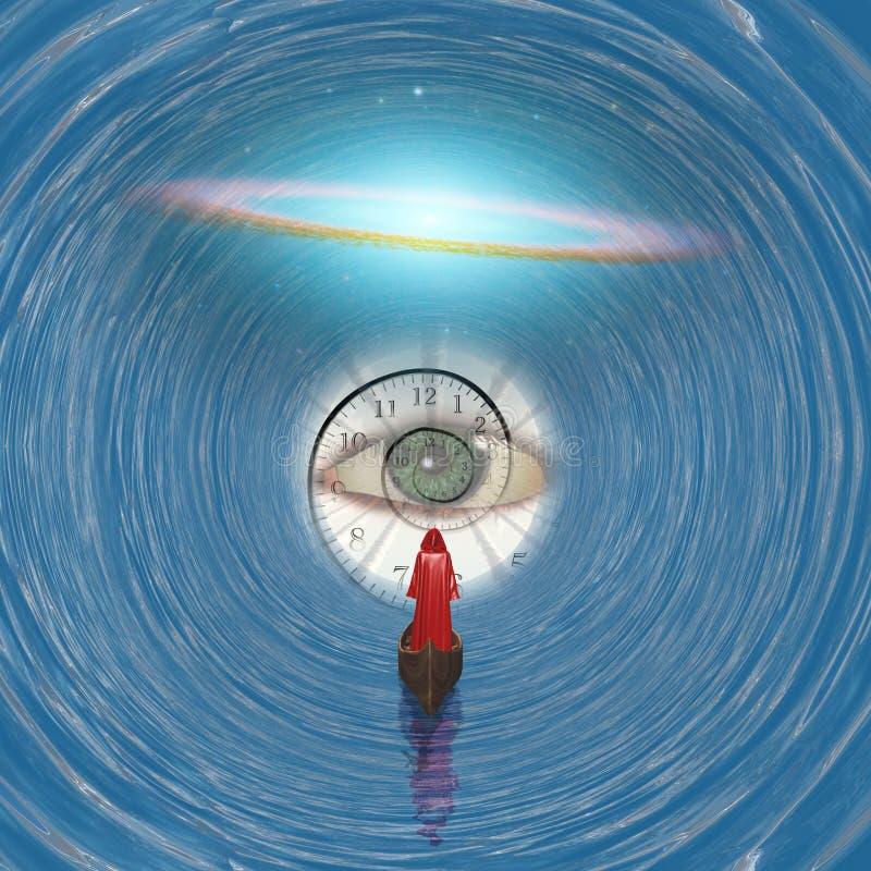 Bóg ` s oko royalty ilustracja