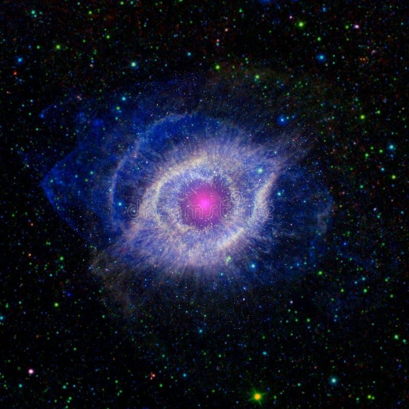 Bóg ` s oko w przestrzeni ilustracji