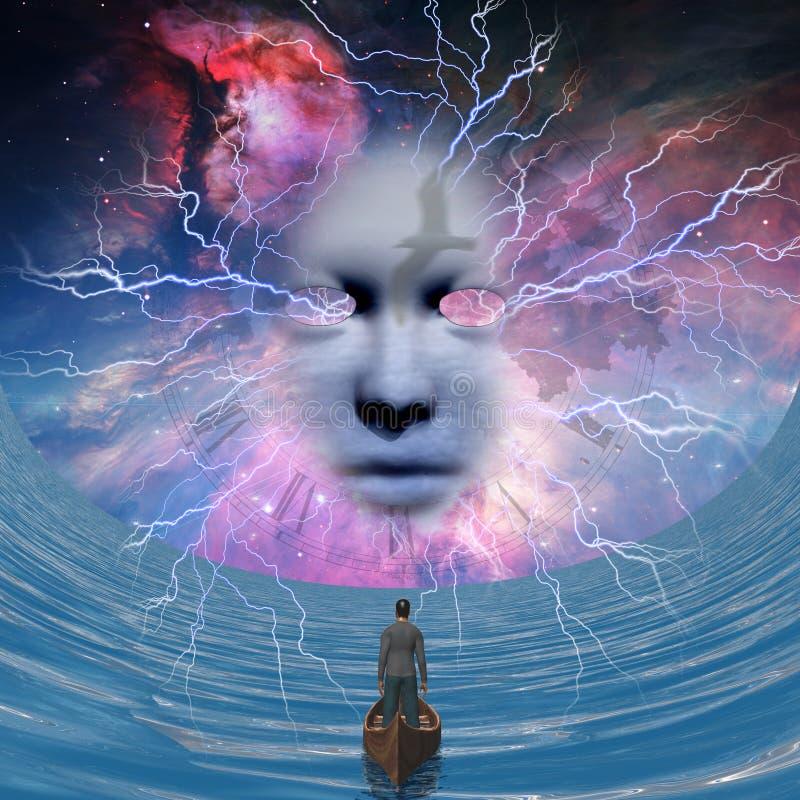 Bóg ` s twarz ilustracja wektor