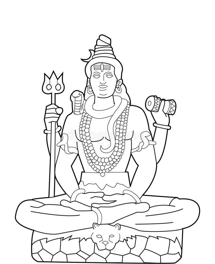 Bóg Shiva ilustracji