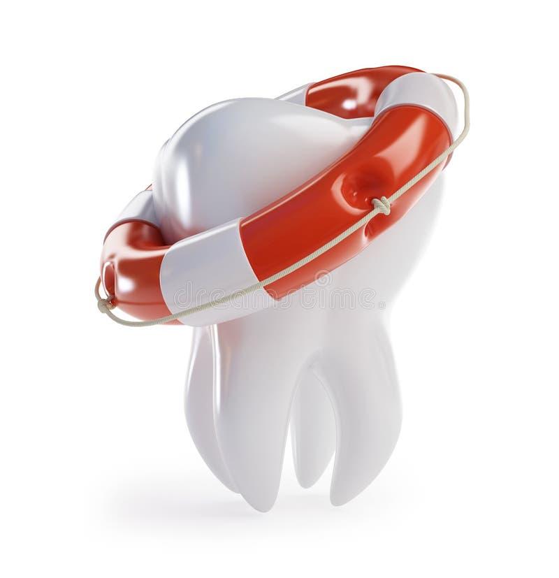 Bóia de vida da ajuda do dente ilustração stock