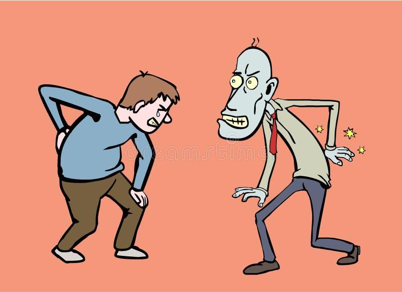 Bólów pleców przyjaciele ilustracji