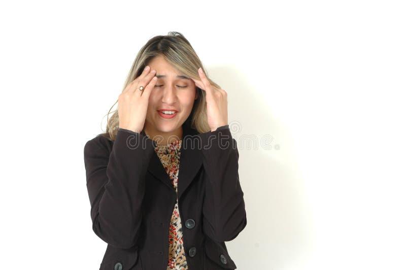 ból głowy fotografia stock
