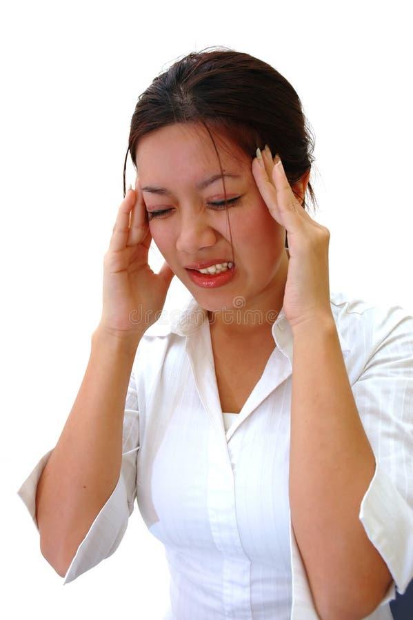 ból głowy. zdjęcia stock