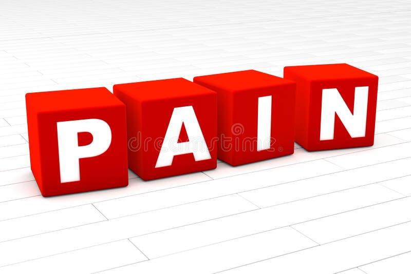 Bólowy słowo ilustracji