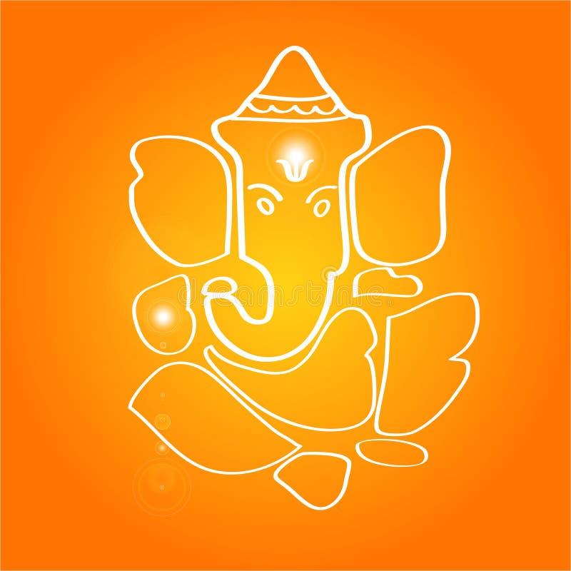 bóstwa ganesha hinduskiego sri royalty ilustracja
