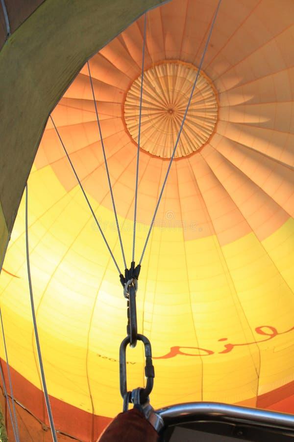 Bóveda colorida de la tela del globo del aire caliente imagen de archivo