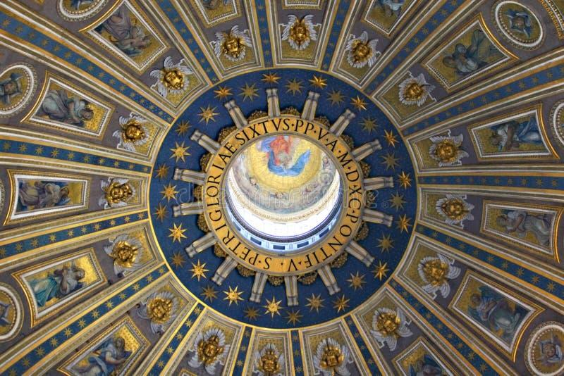 Bóveda de la basílica de San Pedro imagen de archivo