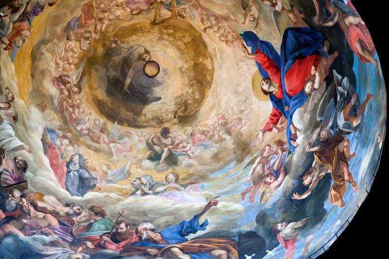 Bóveda de la catedral de Pisa foto de archivo