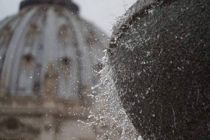 Bóveda de la catedral de San Pedro del lugar del Vaticano de Roma imagenes de archivo