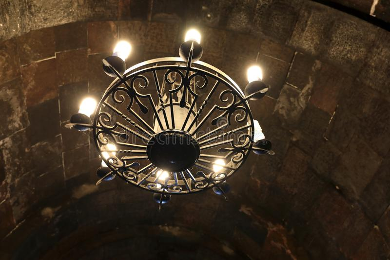 Bóveda de la iglesia en el monasterio de Khor Virap foto de archivo