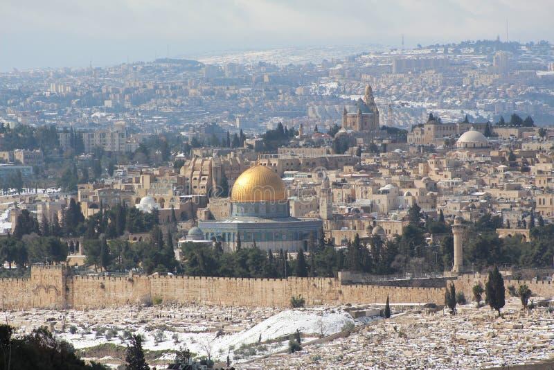 Bóveda de la roca en la Explanada de las Mezquitas, Jerusalén, Israel fotografía de archivo libre de regalías