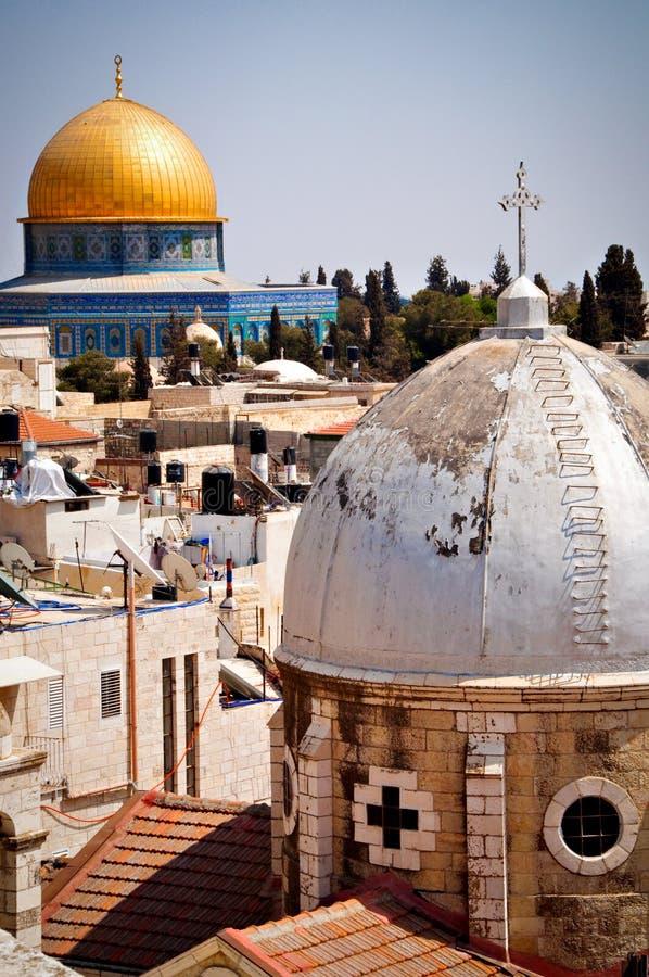 Bóveda de la roca Jerusalén fotos de archivo