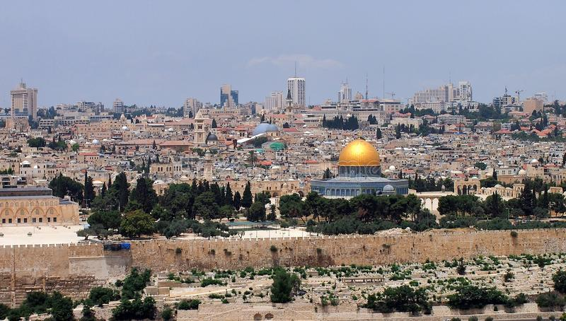 Bóveda de la roca, Jerusalén fotografía de archivo libre de regalías