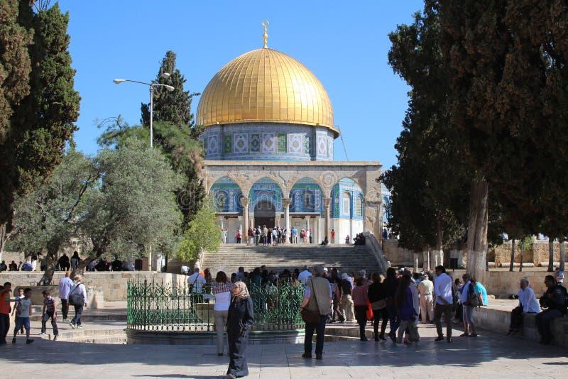 Bóveda de la roca - la Explanada de las Mezquitas - Jerusalén - Israel fotografía de archivo libre de regalías