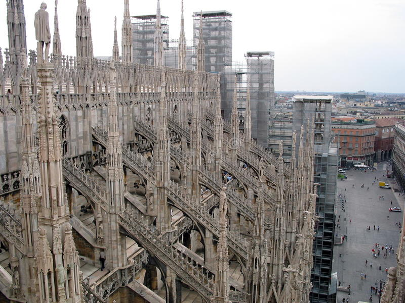 Bóveda de Milano fotografía de archivo