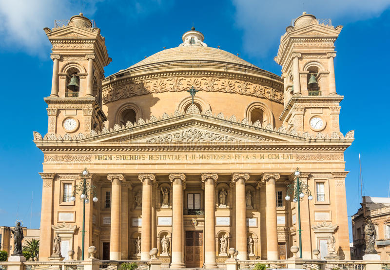 Bóveda de Mosta en Malta fotos de archivo libres de regalías