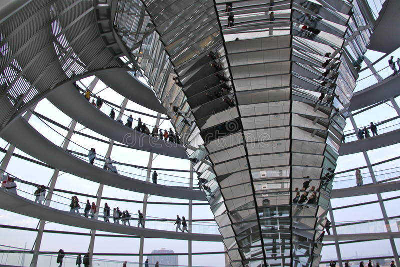 Bóveda de Reichstag imagenes de archivo