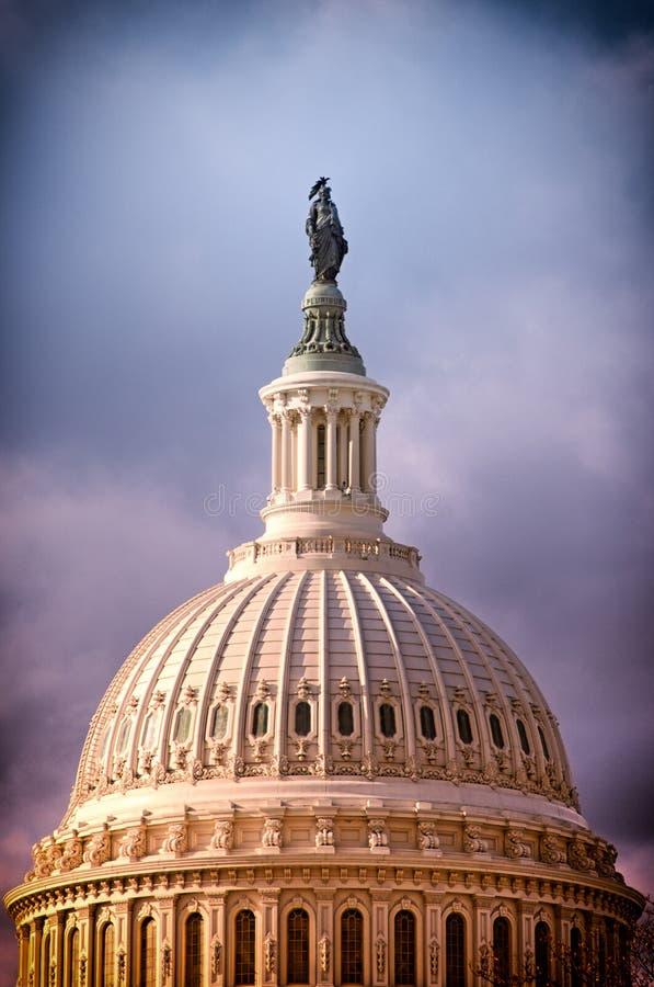 Bóveda del capitolio de Estados Unidos foto de archivo libre de regalías
